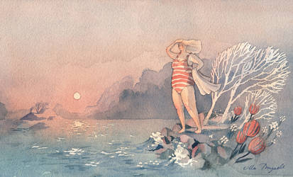 Swimmer by UllaThynell
