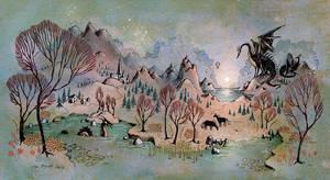 Dragon Hills by UllaThynell