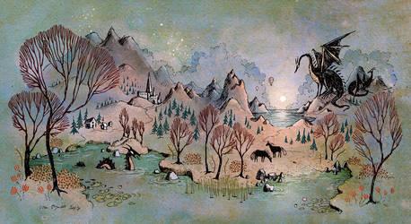 Dragon Hills by ullakko