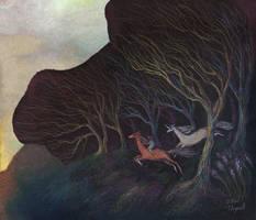 Adventures in the Dark Woods by ullakko