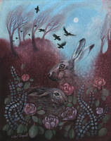 Hares and Crows by UllaThynell