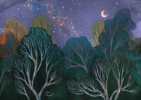 Starlit Woods by UllaThynell