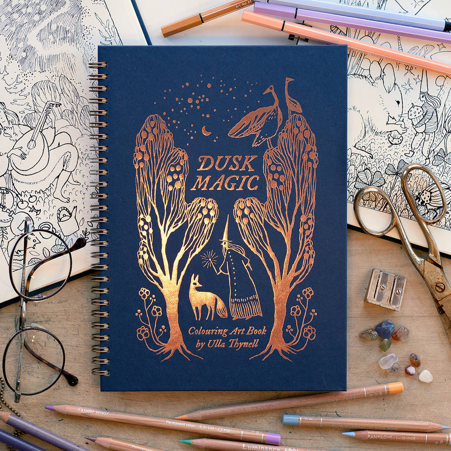 Dusk Magic Colouring Art Book by ullakko