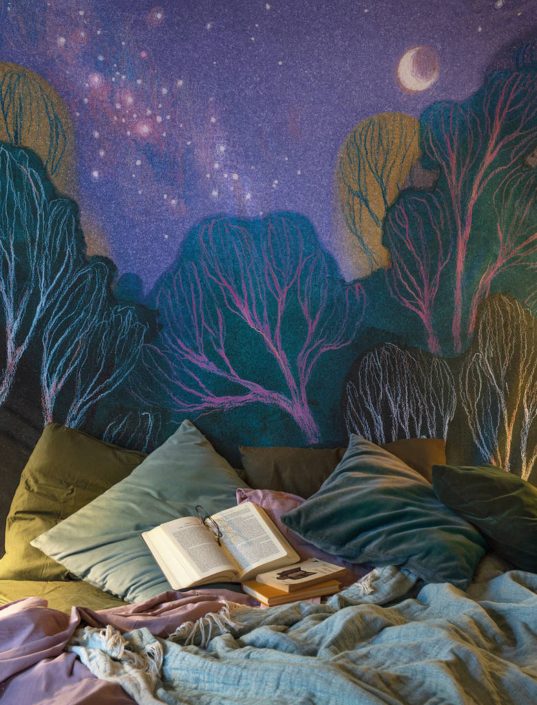 Starlit Woods wall tapestry