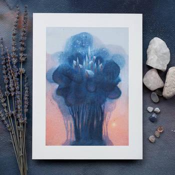 Blue Crown City art print