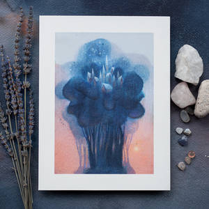 Blue Crown City art print