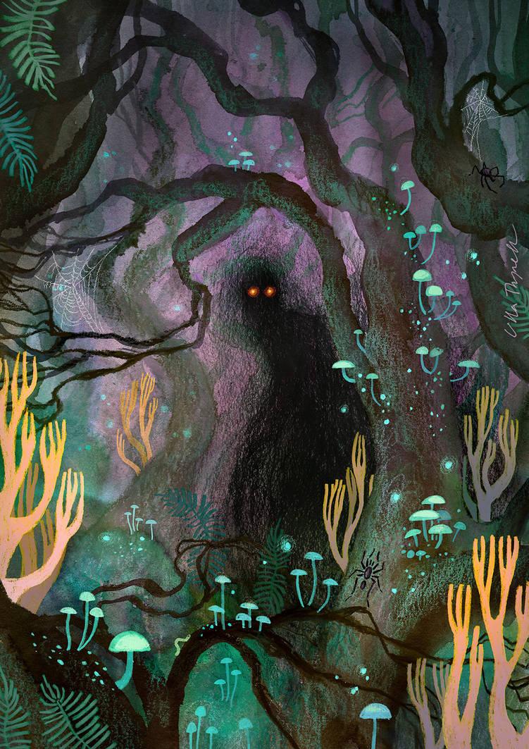 Dolmenwood Monster Book cover art (commission)