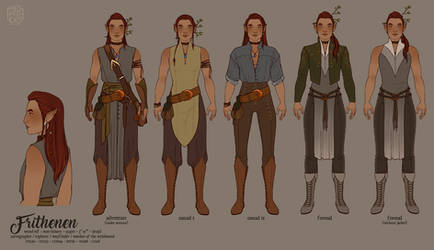 [DnD] Frithenen costume sheet by hes-per-ides