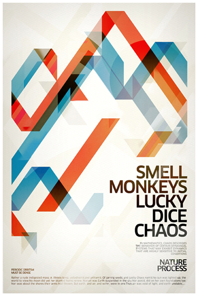 smell monkeys lucky dice chaos by metric72 d2abe3h Text Art + Typography Inspiration For 2011