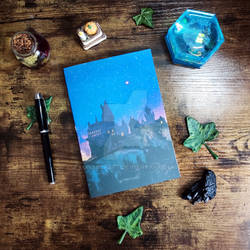 Customizable notebook with Wizards School for sale