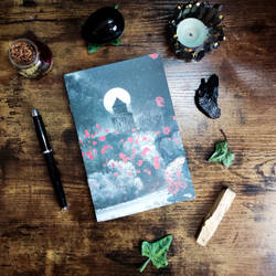Customizable notebook with dracula castle