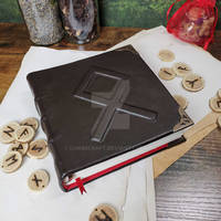 Runic notebook in brown leather by Lunacraft