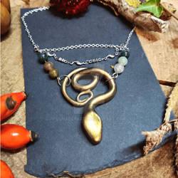 Handmade Snake necklace by Lunaecraft