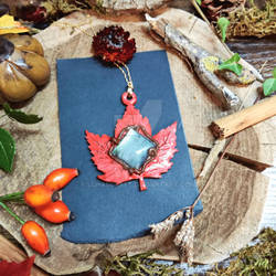 Maple leaf necklace for sale by Lunaecraft