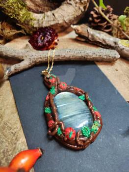 Handmade Pumpkin necklace for sale by Lunaecraft