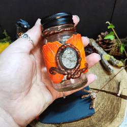 Decorated Spelljar with pyrite by Lunaecraft