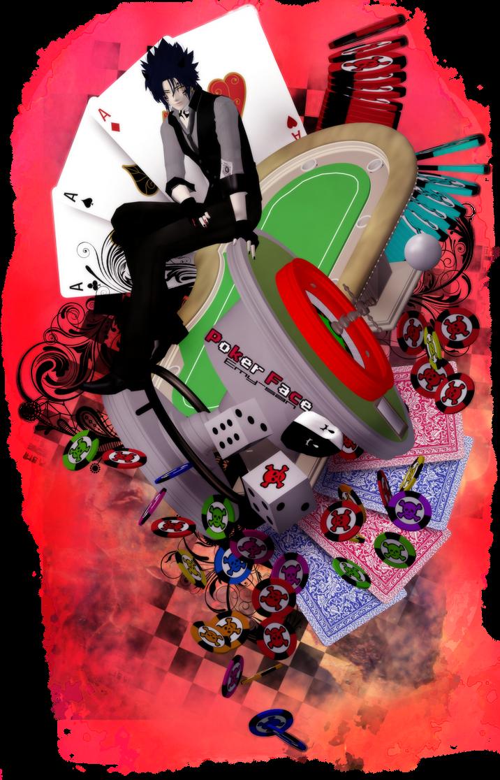 .:Art Trade:. Poker Face by Emy-san