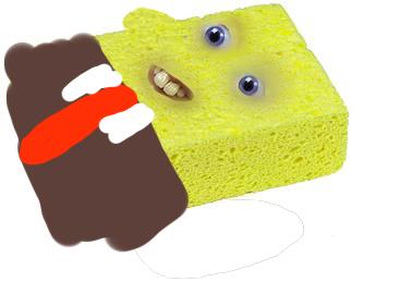 a really shitty spongebob by bvtterscotch