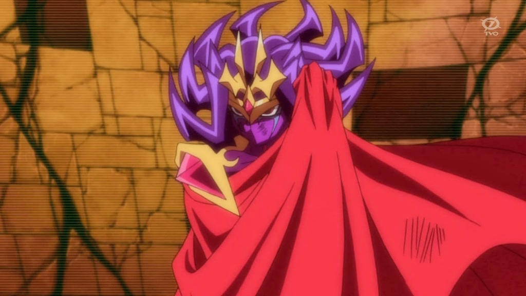 Nasch using his cape  ...