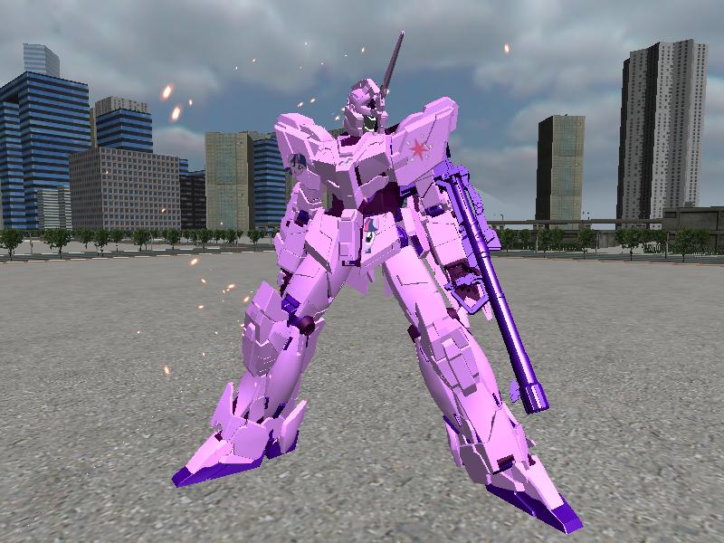 Twilight Sparkle Custom RX-0 Unicorn Gundam by sovietlil