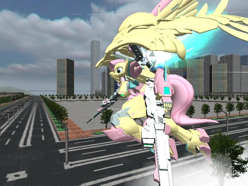 Fluttershy Wing Zero Custom Gundam by sovietlil