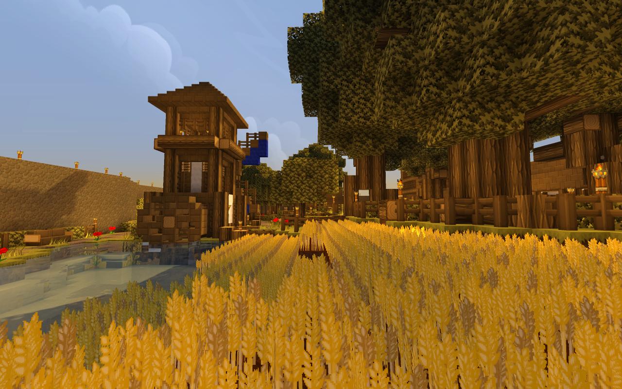 Minecraft Wheat farm by xXSirCrayonXx on DeviantArt