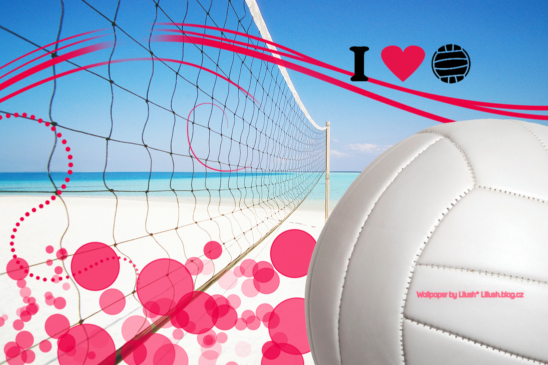 Wallpaper I Love Volleyball by lillushka on DeviantArt