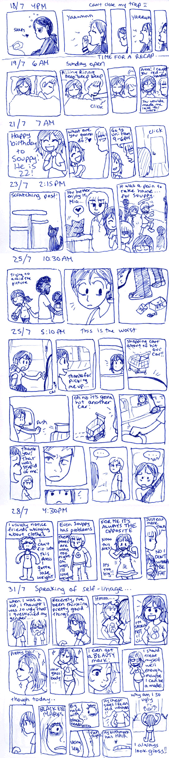 2009 Diary Comic - July. by taeshilh