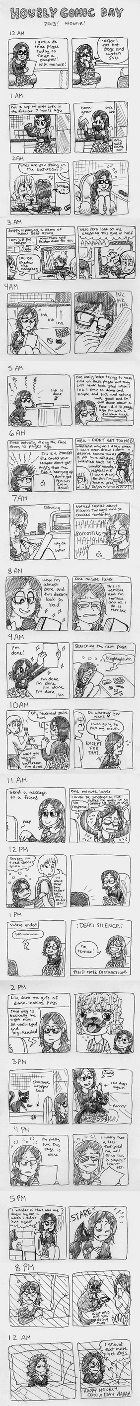 Hourly Comic Day 2013 by taeshilh