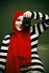 Girl in the Red Scarf