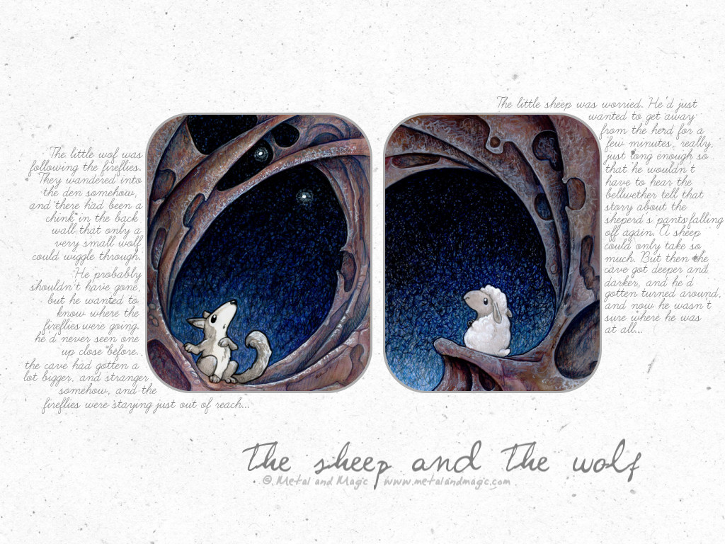 The sheep and the wolf by dop12