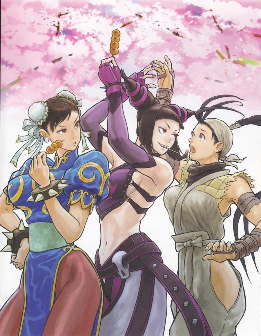 Chun-li, Juri, Ibuki by Darcias89