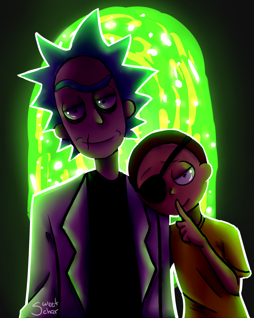 Evil Wallpapers: Evil Rick And Morty By GabDommie On DeviantArt