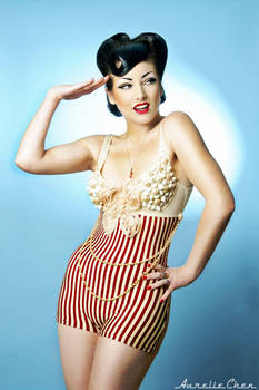 Pin Up in swimsuit