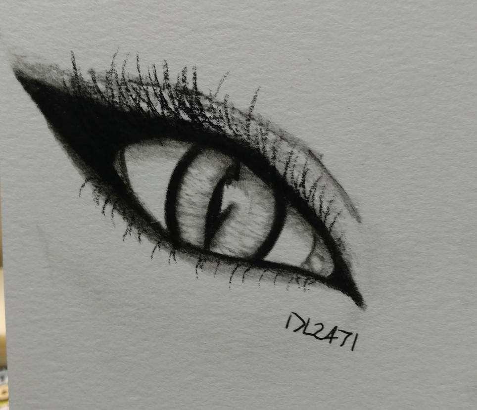 Cat Eye Makeup Sketch By Dragonlord2471 On Deviantart