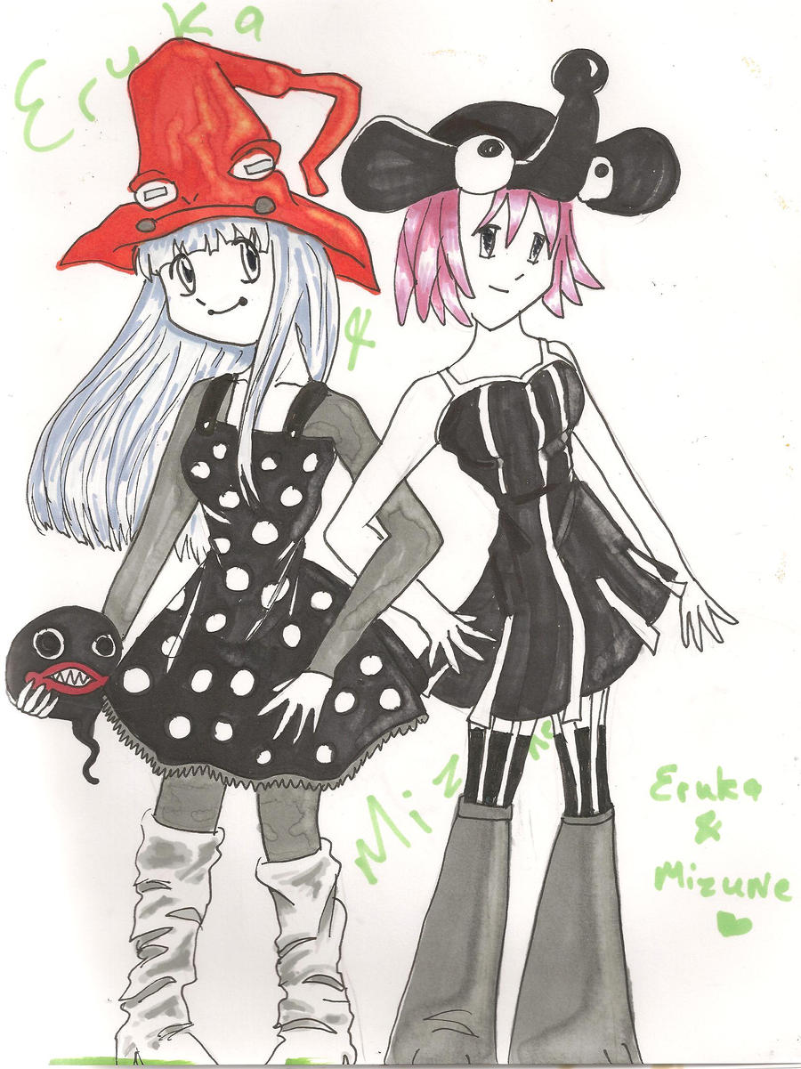 eruka and mizune by CelestialTea96 on DeviantArt