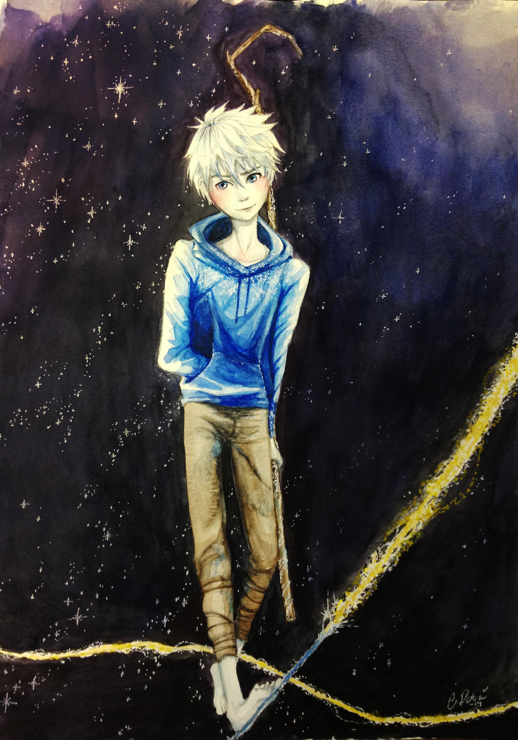 Jack Frost in watercolor by MissCake