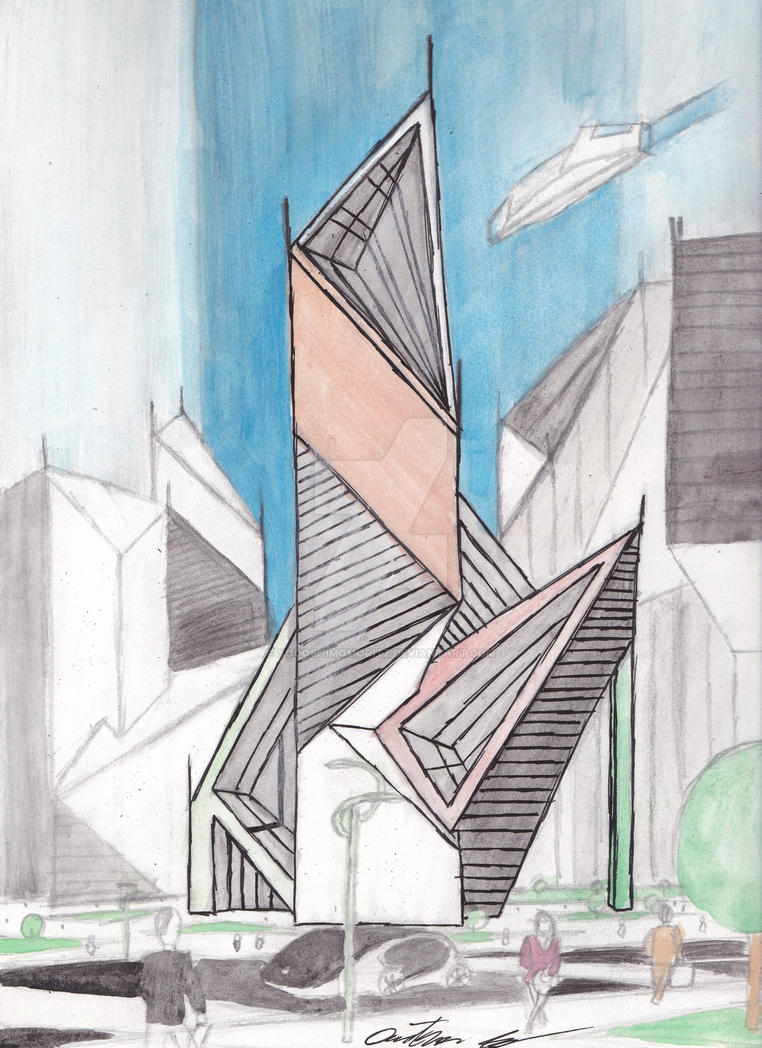 Simple modernity - skyscraper like building by YogoshimoMoritz
