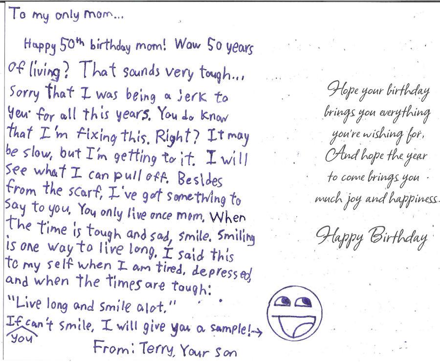 My Moms 50th Birthday Card By Masterluigi452 On DeviantArt