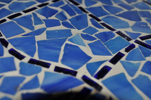 Abstract Blue Tile 1 by ticklemeimsexy