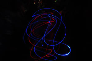 Red and Blue Crazy Lights by ticklemeimsexy