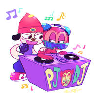Parappa and PJ by TigerToony