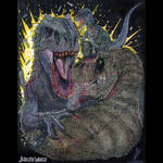 Clash of Queens. Indominus Rex vs Rexy and Blue