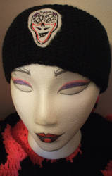 sugar skull crochet winterwrap