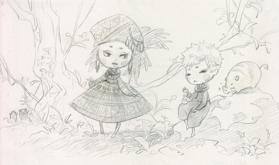 Hmong Child_sketch by cantieuhy