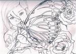 Kayla's Butterfly line art WIP