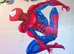 Spidey wall mural wip