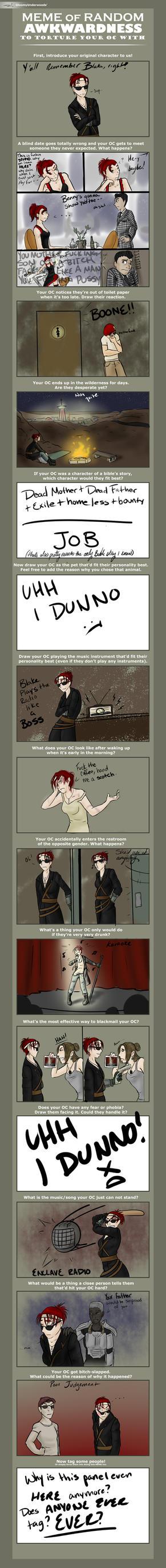 OC Awkwardness Meme by Hehewuti