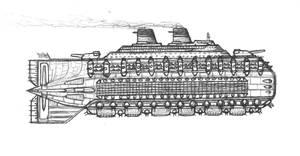 alternate universe SS [sky ship] United States by gigastorm727