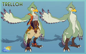 Zelda OC - Trelloh the Rito by LucarioOcarina